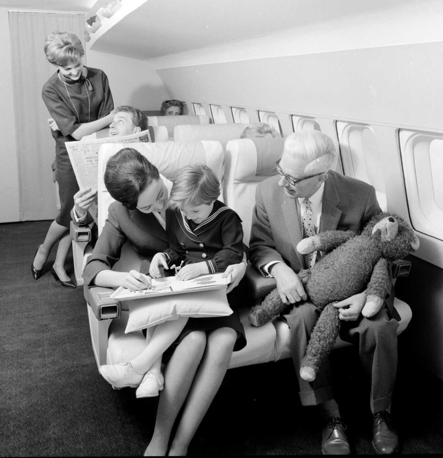 Voyagez en première classe dans les années 1960