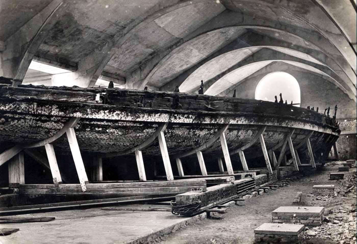 Les italiens de visualisation antique Empereur Caligula de navires de Nemi, 1932