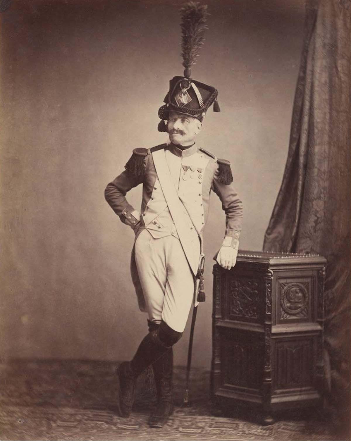 Des photos d'époque de vétérans des Guerres Napoléoniennes, 1858