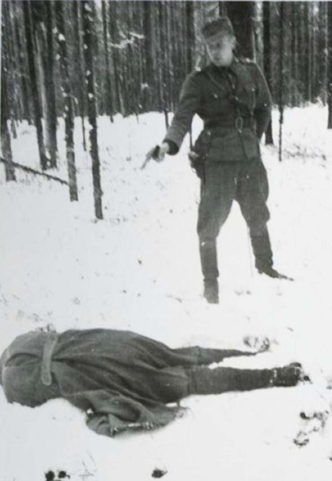 Espion russe rire tout au long de son exécution, en Finlande, en 1942