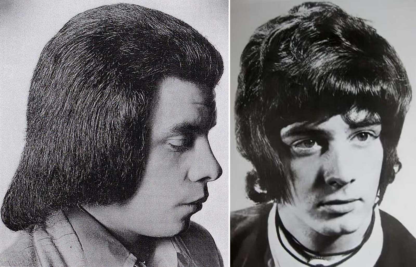 Romantique de coiffure pour hommes dans les années 1960–années 1970