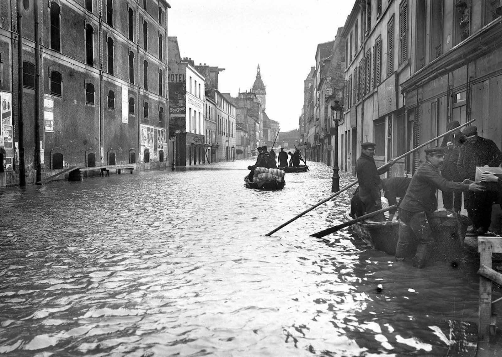 Quand Paris inondé de 1910