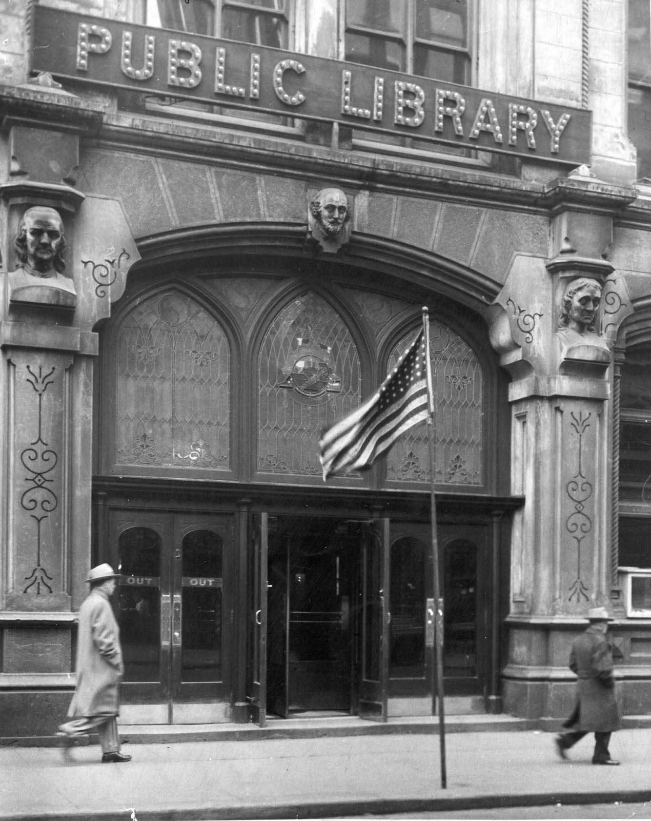 L'Ancien Cincinnati Bibliothèque avant d'être démoli, 1874-1955