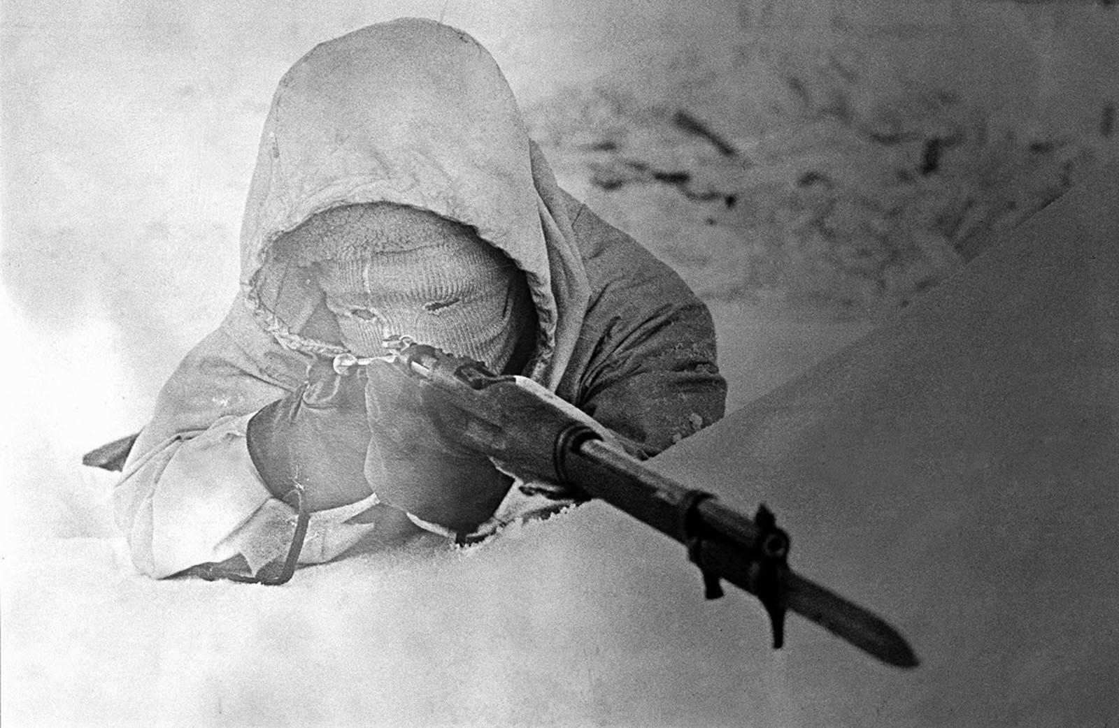 Simo Hayha, La Mort Blanche, dans l'hiver de camouflage, 1940