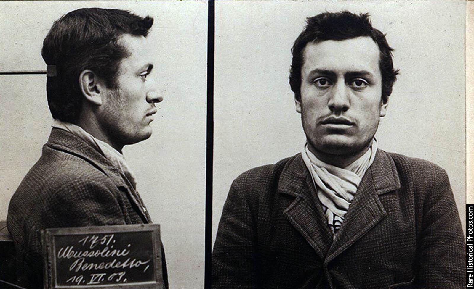 Benito Mussolini, mugshot, 1903