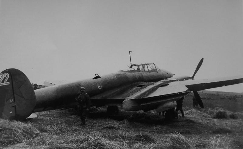 Soviétique bombardier Pe-2, capturé par les troupes allemandes