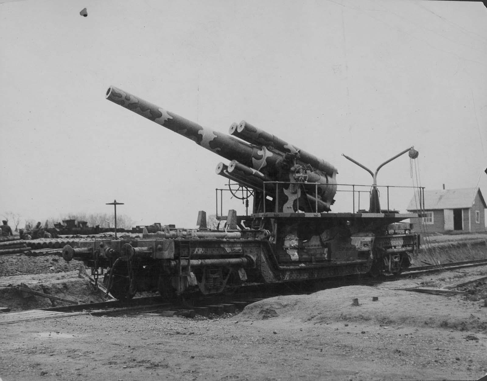 Lorsque le chemin de fer de canons dirigés, 1916-1944