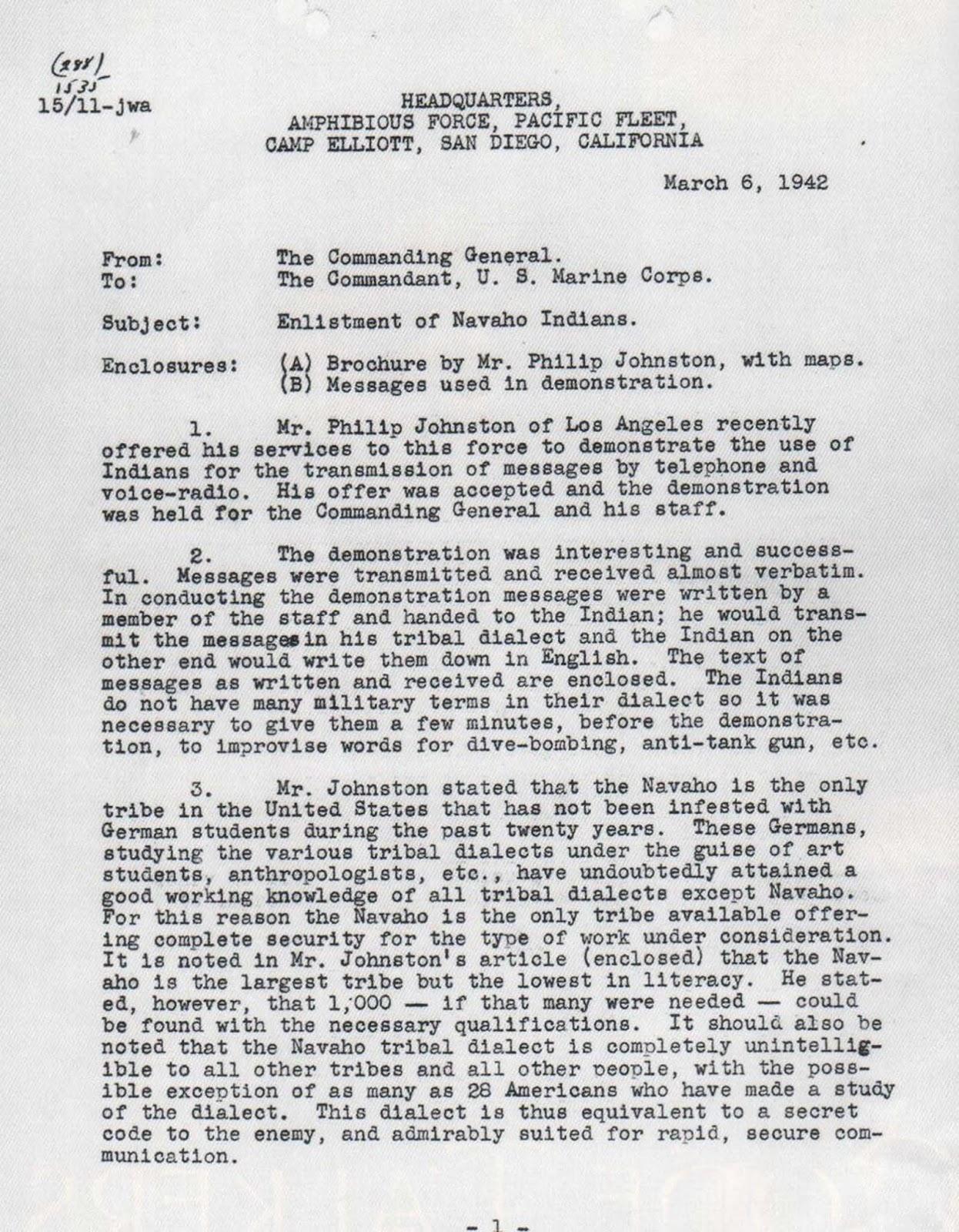 Le Navajo Code Talkers et leur incassable code, 1942-1945