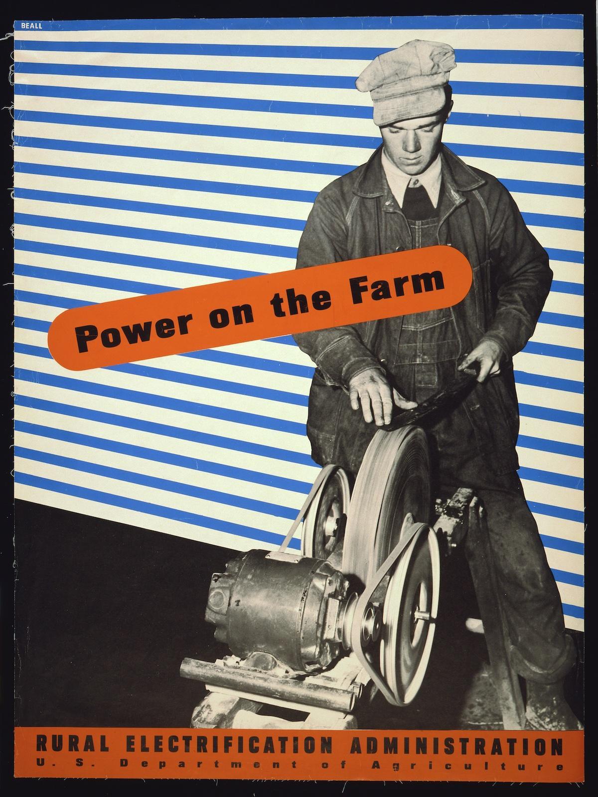 Lester Beall pour le département américain de l'Agriculture - 1930