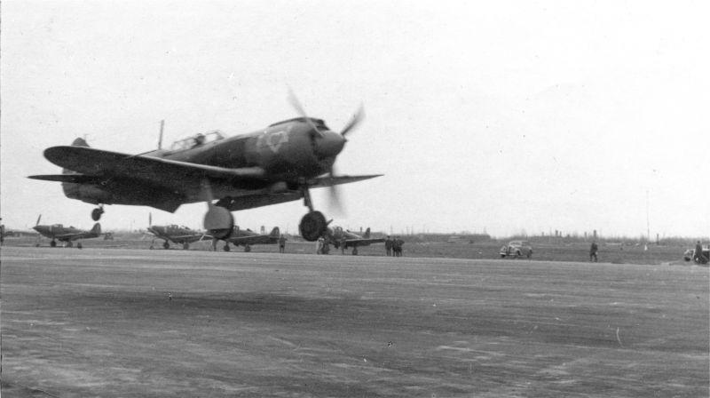 Chasseur soviétique La-5FN 41e atterrissage GIAP. Avril 1945