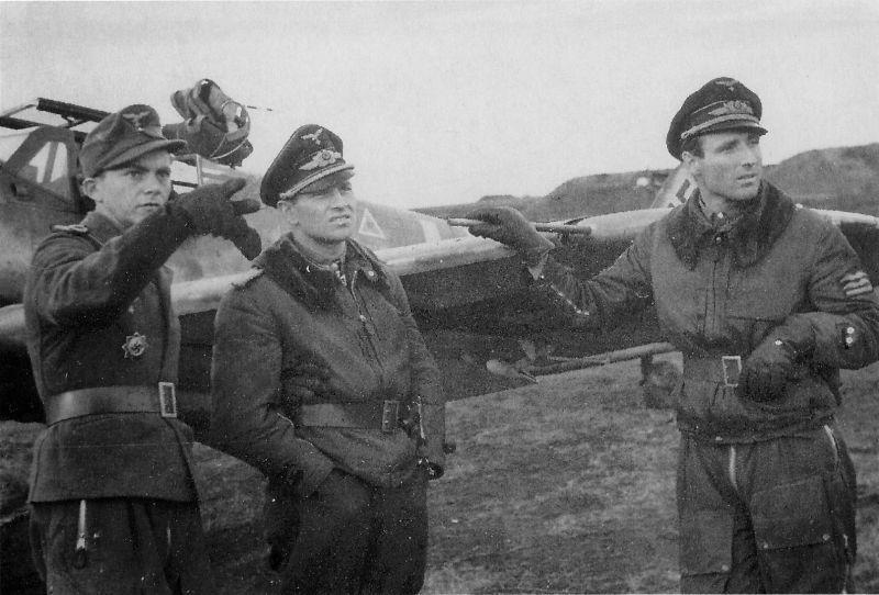Officiers du 52e Escadron de chasse de la Luftwaffe au Bf. 109 en Crimée. Septembre-novembre 1943
