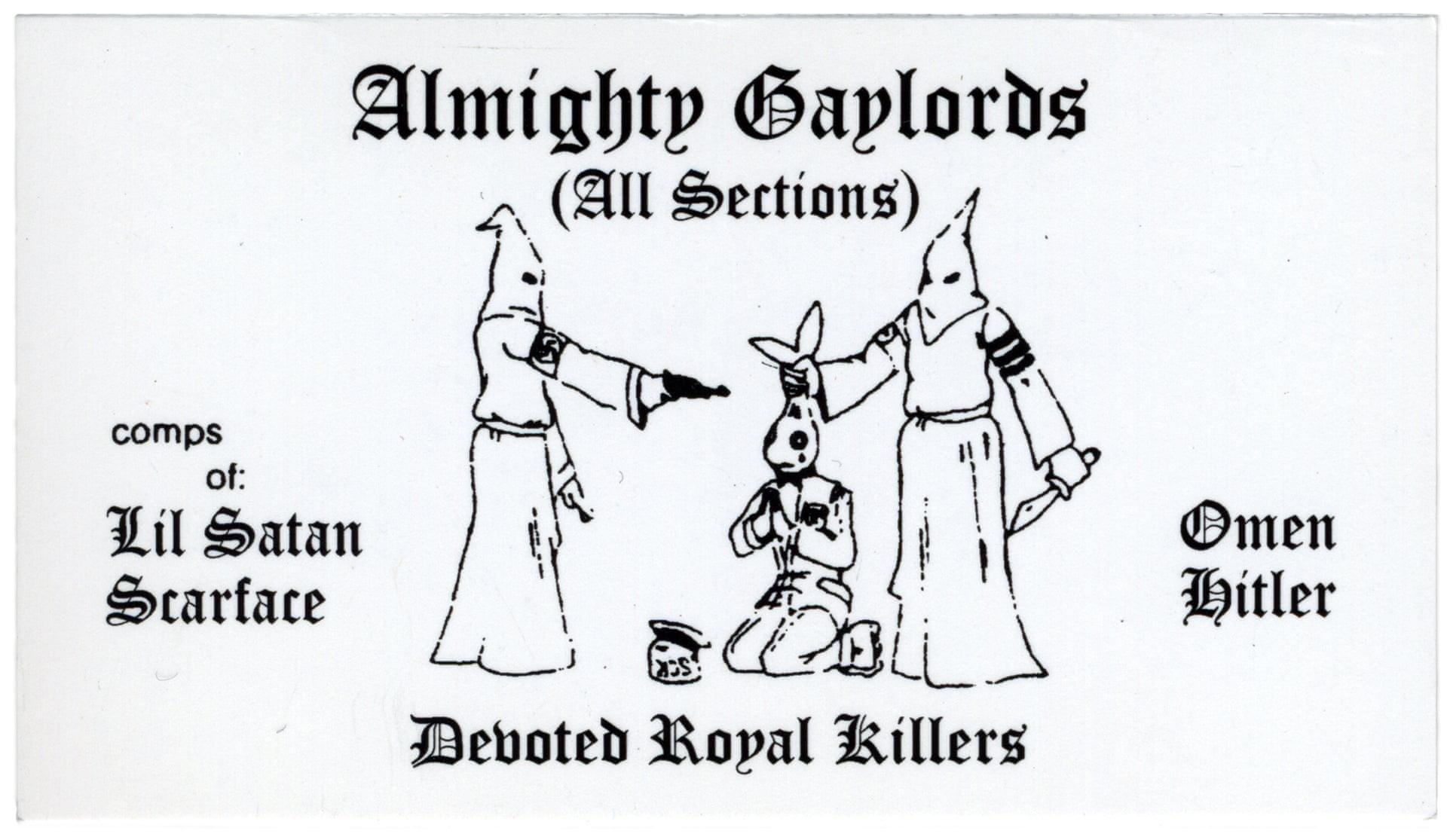 Compliments of Chicago - Cartes de visite de gang des années 1970 et 1980