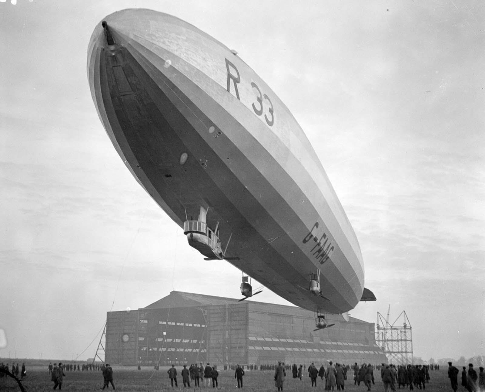 Le dirigeable R33 en images étonnantes, 1919-1925