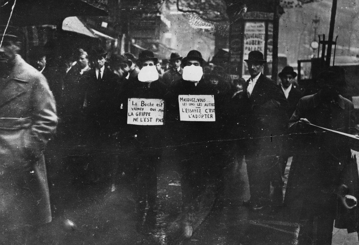 Masques contre la grippe de 1918-1919